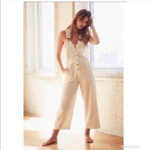 BDG white overall jumpsuit pants bottom denim